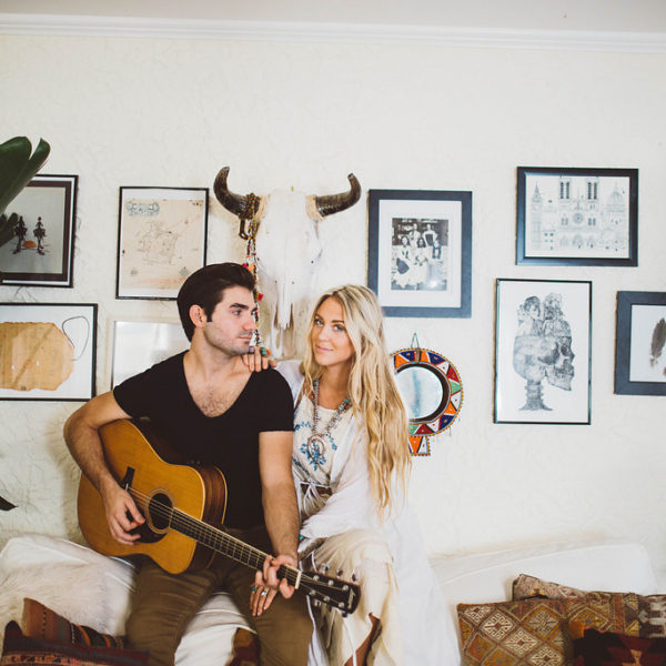 Carley & Jonathan // Bohemian In-home Session