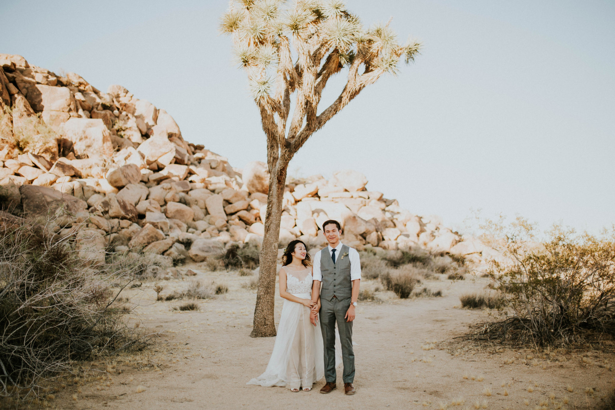 Mandy & Joey Joshua Tree Elopement California Wedding Photographer-136