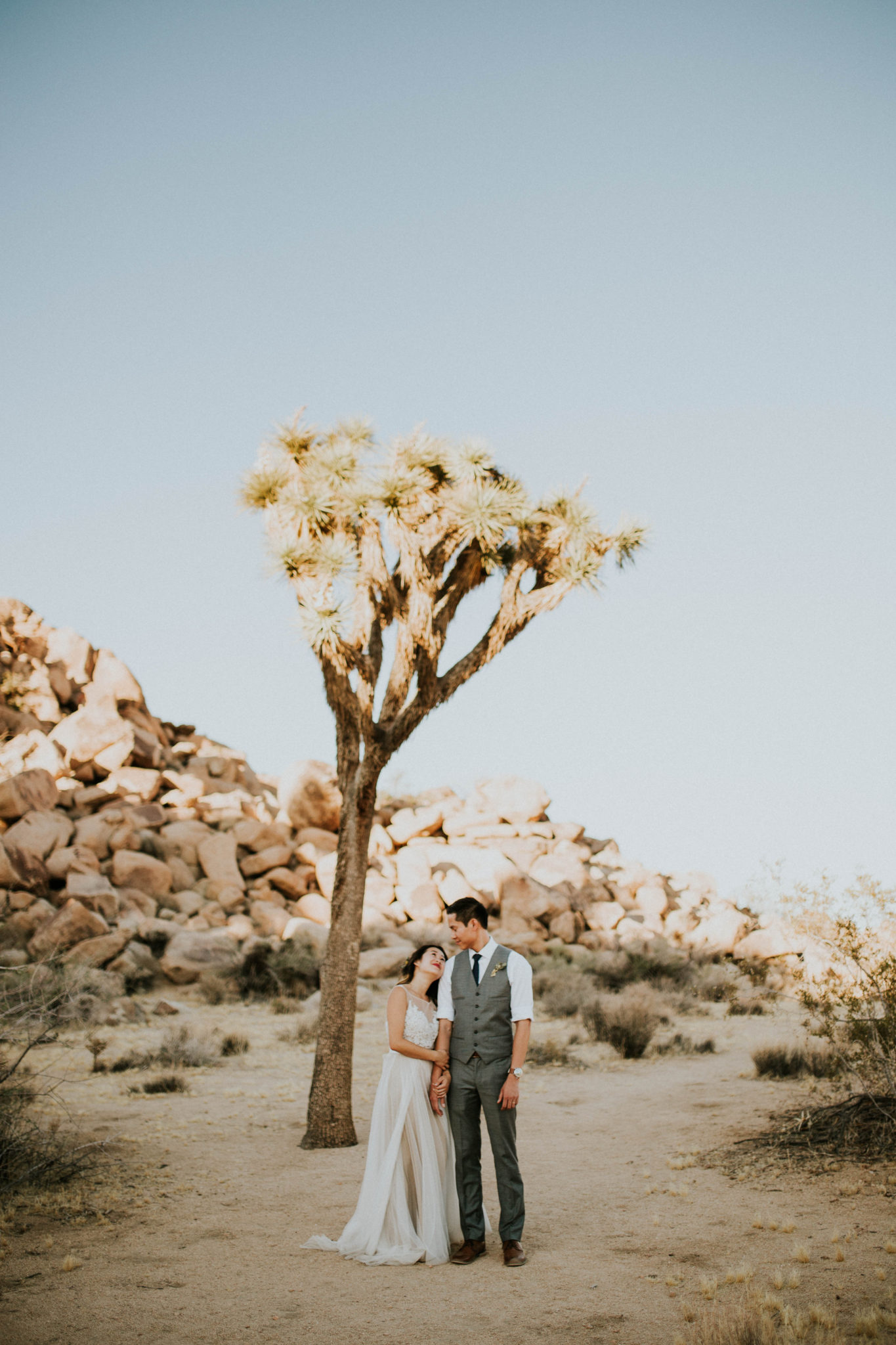 Mandy & Joey Joshua Tree Elopement California Wedding Photographer-144
