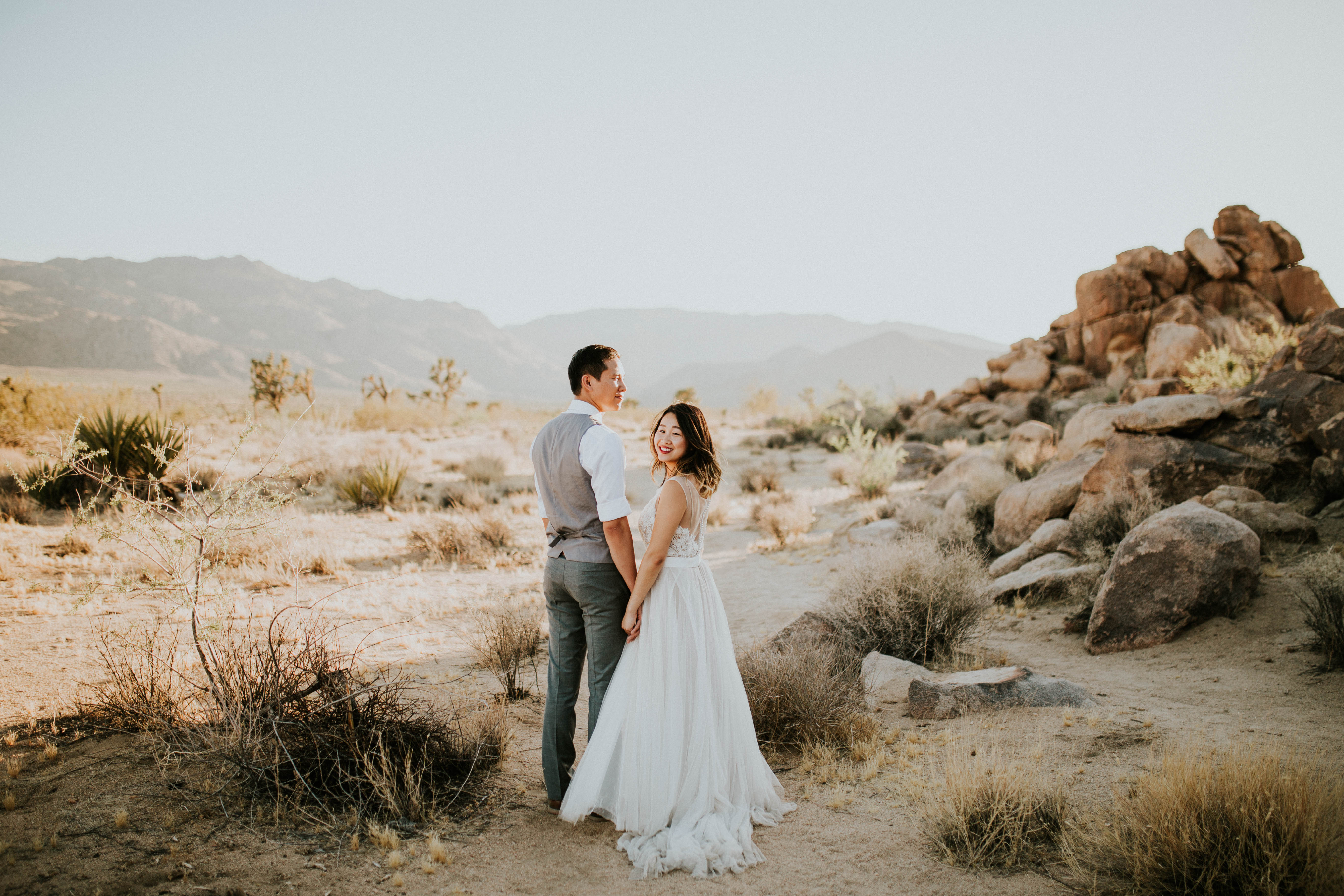 Mandy & Joey Joshua Tree Elopement California Wedding Photographer-166