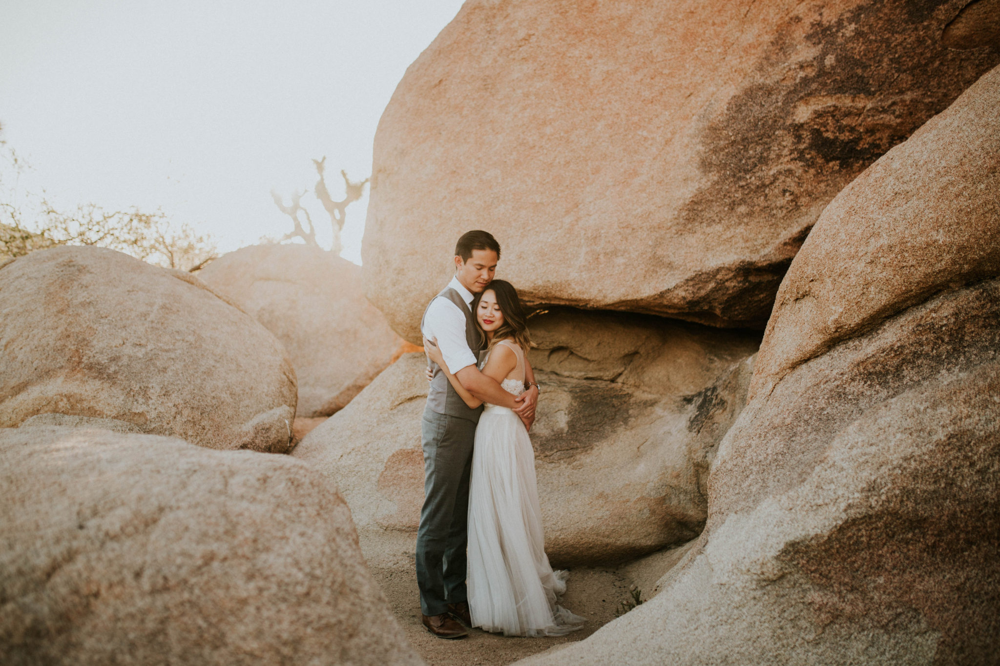 Mandy & Joey Joshua Tree Elopement California Wedding Photographer-186