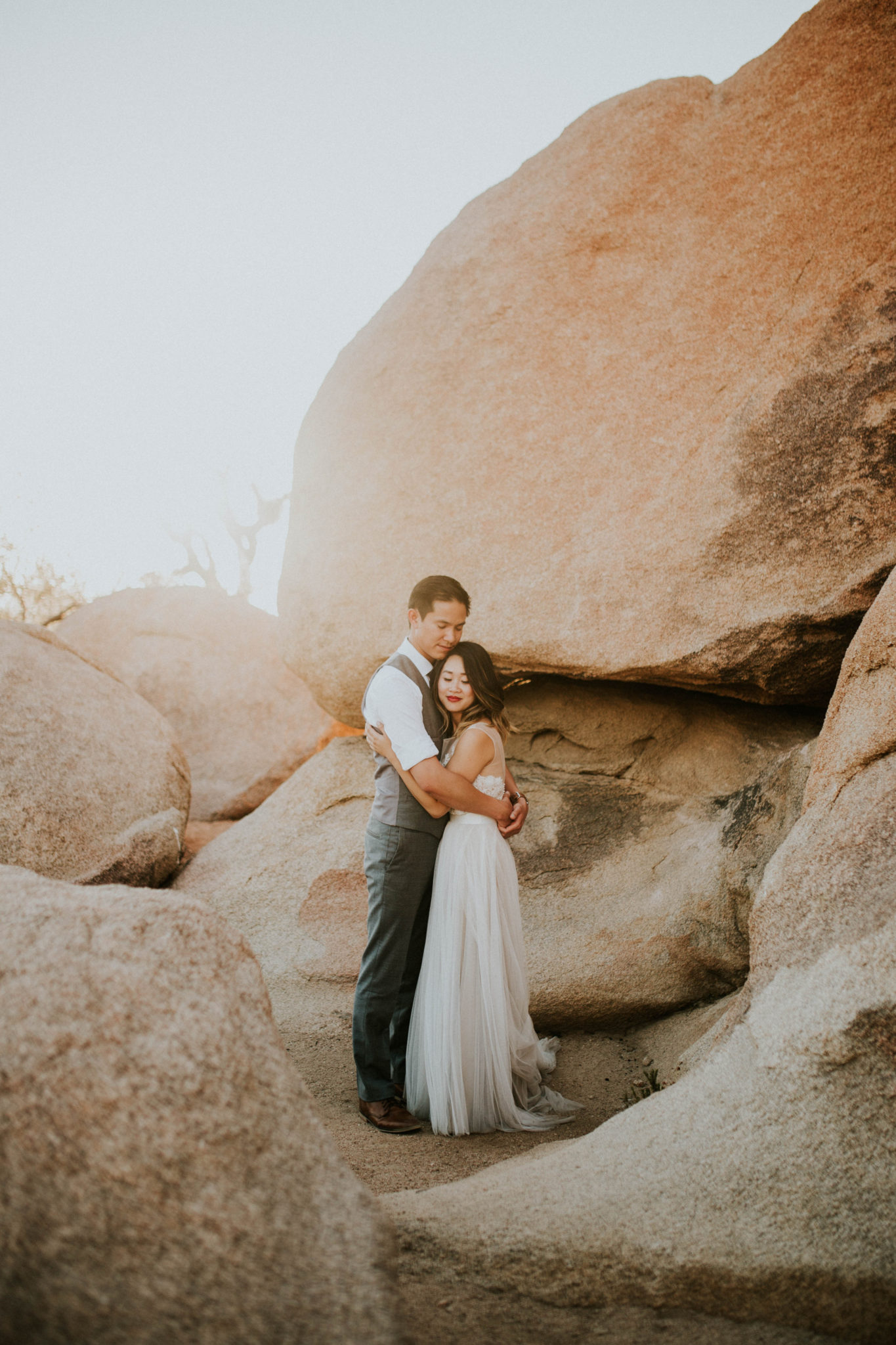 Mandy & Joey Joshua Tree Elopement California Wedding Photographer-189
