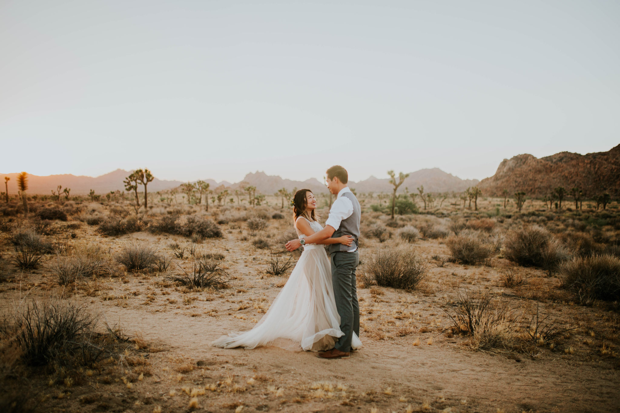 Mandy & Joey Joshua Tree Elopement California Wedding Photographer-283