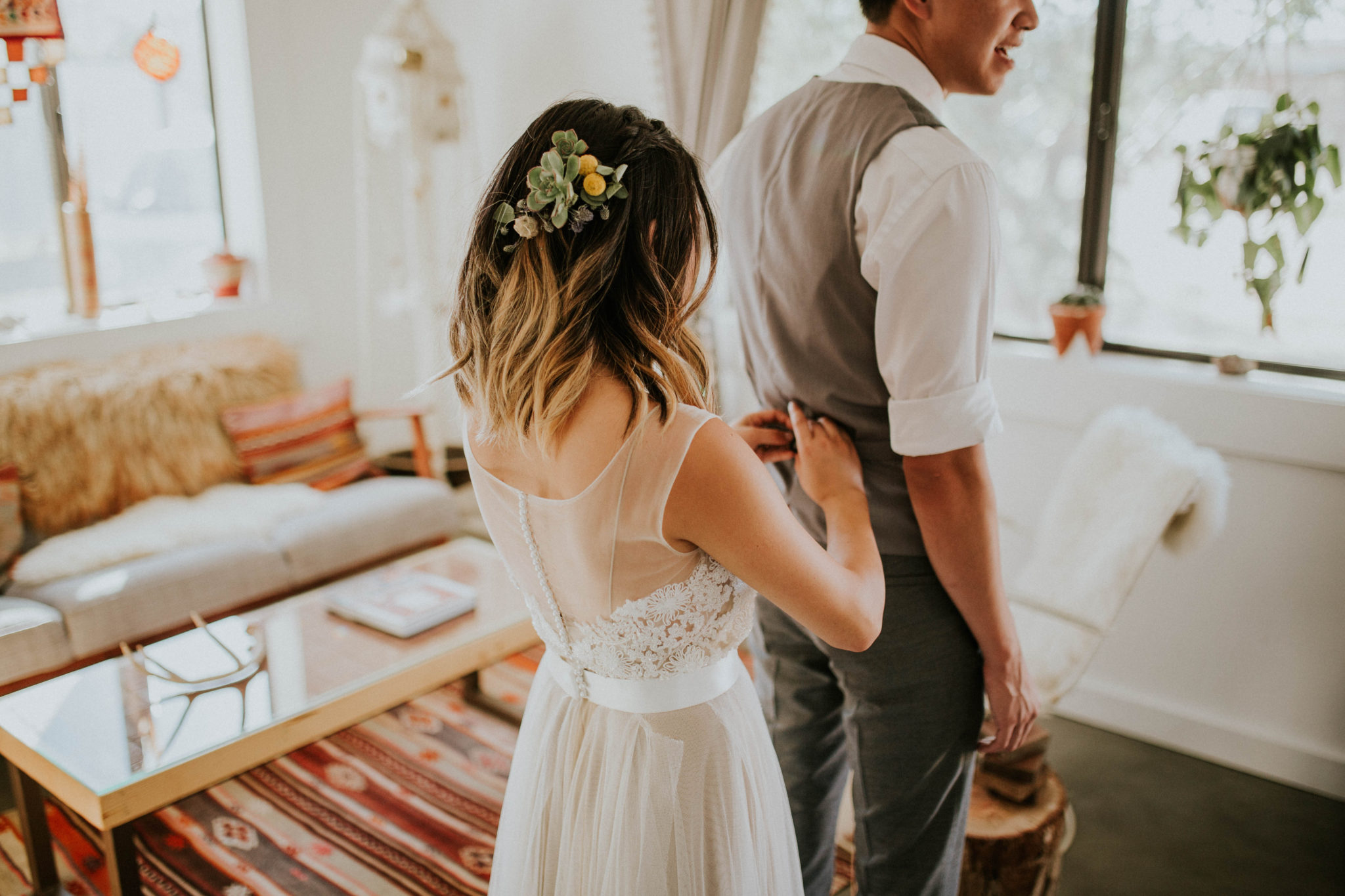 Mandy & Joey Joshua Tree Elopement California Wedding Photographer-34