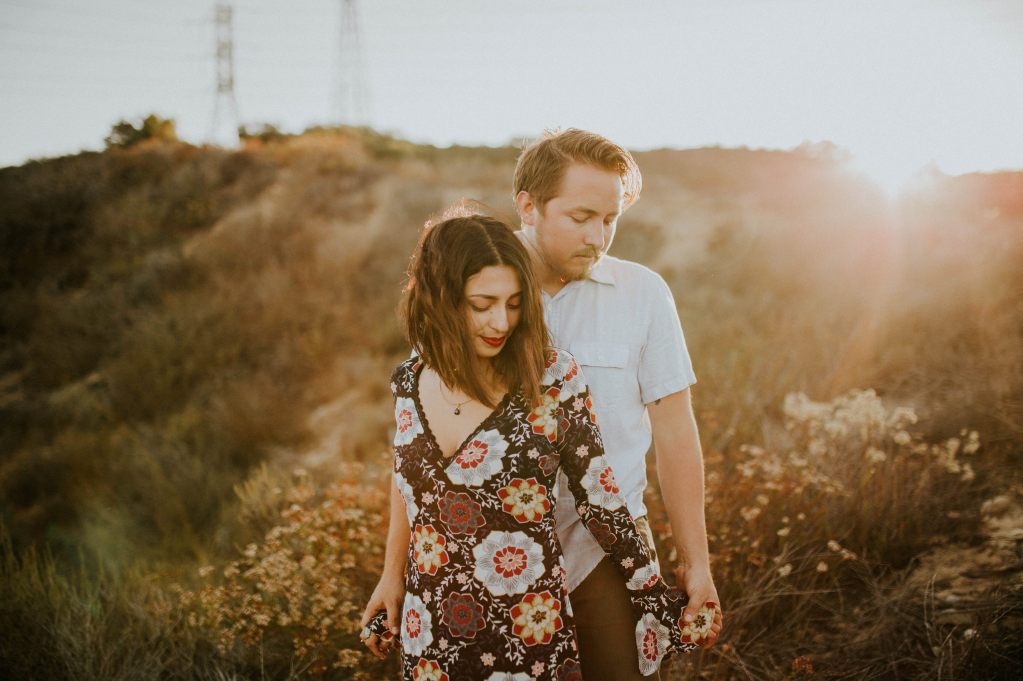 Valerie & Zach Laguna Canyon Couple Session-823