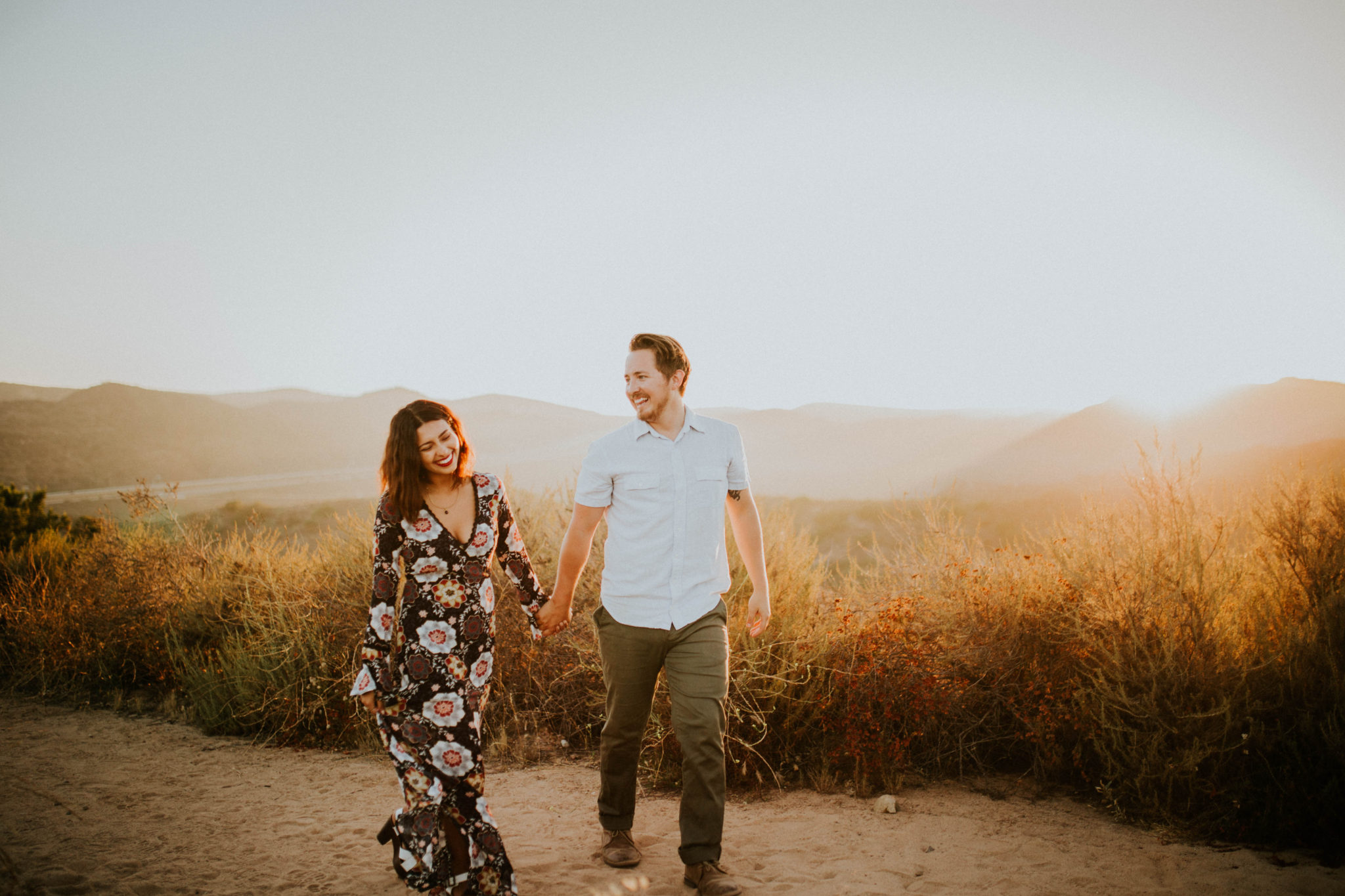 Valerie & Zach Laguna Canyon Couple Session-885